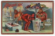 Halloween Postcard. Raphael Tuck And Sons, Series 160. Creatures And Jols Sipping.