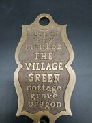 Nice Brass The Village Green Motor Motel Vintage Hotel Room Key And Chain 209