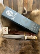 Muela 15 1/2 Podenquero Knife Stag Handles And Leather Sheath Mint In Box Super+