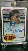 2015 Topps Marcus Mariota Tennessee Titans 1976 Rookie On Card Autograph 08/25