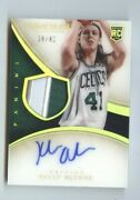 2013-14 Kelly Olynyk Immaculate Acetate 2clr Jsy Gold Silver Patch Auto /41
