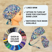 Scrub Cap Avail With Buttons, Washable Scrub Hat Surgical Scrub Hats Welding Cap