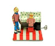 Rare Vintage Linemar Mechanical Clarabell And Howdy Doody Piano Tin Windup Marx