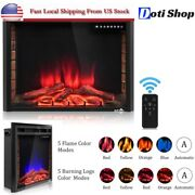 Electric Fireplace Heater Insert Wall Mount Stand With Remote Control 1500w 30in