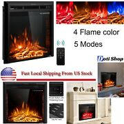 Electric Fireplace Heater Insert Wall Mount Stand With Remote Control 1500w