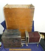 Antique Williams Brown And Earle Magic Lantern Projector W/ Polyopse Lens In Box