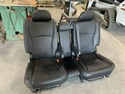 2012 Toyota Highlander 2nd Row Rear Seat And Cup Holder Set Leather Oem