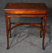Theodore Alexander Leather Top Mechanical Writing Desk Table W Cubbies Mint