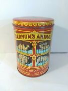 1979 Nabisco Barnumand039s Animal Crackers Vintage Tin Can Empty Ships Fast