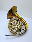 Antique A.k. Hüttl Graslitz Germany Rotary French Horn Hand Engraved.