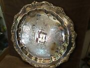 Vintage 1847 Rogers Bros Heritage Serving Tray/ Silver Plate 9473-size 17and039and039