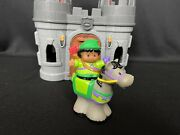 Fisher Price Little People Robin Hood Archer On Horse W/ Take And Carry Castle