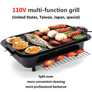 Electric Bbq Grill Portable Smokeless Indoor/outdoor Smokeless Barbeque Grill