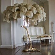 Nordic Modern Luxury Tree Branch Feather Floor Lamp High-grade Stand Light Home