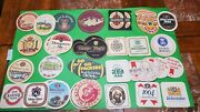 Lot Of 25 Different Vintage Old Beer/wine Bar Coasters Man Cave New/used