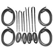 Sweep Belt Glass Run Channel And Door Seal 16pc Kit 81-86 Gmc Chevy Pickup Blazer