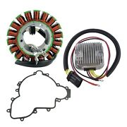Kimpex 225375 Hd Stator Mosfet Voltage Regulator Rectifier And Crankcase Cover