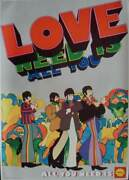 Yellow Submarine All You Need Is Shell Poster 1968 The Beatles 15x21.5 Very Rare