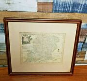 Rare Framed Antique Maps By J Ellis 1768 'a Modern Map Of Hampshire'