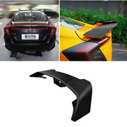 For Honda Civic 10th 2016-2020 Abs Black Rear Trunk Spoiler Aircraft Wing Flap