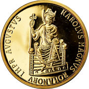 [902731] Coin Belgium Charlemagne 50 Ecu 1989 Ms63 Gold Km174