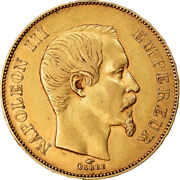 [854959] Coin France Napoleon Iii 50 Francs 1856 Paris Au55-58 Gold