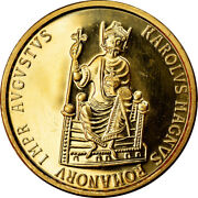 [902736] Coin Belgium Charlemagne 50 Ecu 1989 Ms63 Gold Km174