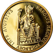[902733] Coin Belgium Charlemagne 50 Ecu 1989 Ms63 Gold Km174