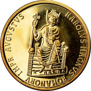 [902735] Coin Belgium Charlemagne 50 Ecu 1989 Ms63 Gold Km174
