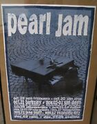 Pearl Jam Vintage Pearl Jam 1993 Ames Bros Concert Poster With Error