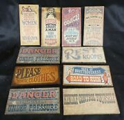 Lot Of 10 Vintage Wallace Berrie Co. Novelty Funny Man-cave Signs