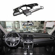 For Honda Civic 2016-2021 Dry Carbon Fiber Console Dashboard Replace Cover Trim