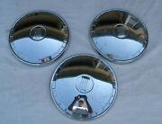 Trio Of Fiat Chrome Hub Caps - 124 Station Wagon - Others - Lot Of 3