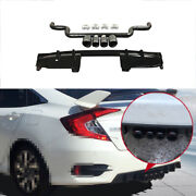 For Honda Civic 2016-2020 1.5t Black Abs Rear Bumper Lip 4-outlet Pipe Bodykit