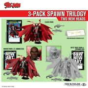 Spawn Kickstarter Collectible 7 Action Figure Trilogy 3 Pack Signed