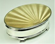 Box Sterling Silver Guilloche Enamel 1932 Very Beautiful – Very Good Condition