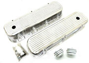 Big Block Chevy Polished Aluminum Tall Finned Valve Covers + Breather And Pcv Kit