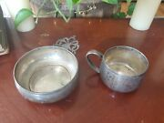 Antique Sterling Lunt Porringer Bowl And Baby Cup Lot Of 2 155.2g Look