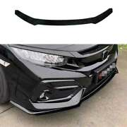 Fit For Honda Civic Type R 16-20 Hatchback Abs Cf Front Bumper Lip Chin Spoiler