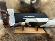 Randall Model 27 Trailblazer Knife Stag Handles Leather Sheath Mint Paper A1