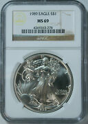 10 1989 Silver American Eagle Dollars / Ngc Ms69 / Mint State 69 🇺🇸 Fresh