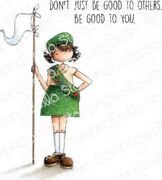 Girl Scout Tiny Townie Cling Rubber Stamp Set Stamping Bella Eb821
