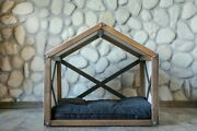 Wooden Dog House Cat Bed Indoor Dog Bed Cat House Dog Crate Pet Sleeping Bed Cot