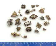 10k And 14k Yellow Gold Fraternity Sorority University And College Pins 19 Pieces