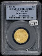 2007-w G5 Jamestown Anniversary Commemorative Gold Coin - Pcgs Ms 69 - Y1181