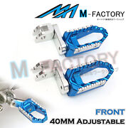 Anodized 40mm Extension Front Touring Footpegs Fit Gsf 650 Bandit Gladius Sfv650