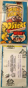 1974 Wacky Packs Packages Full Poster Box With 36 Packs Bbce Authenticated