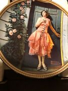 New Edwin M. Knowles China Co. Standing In The Door Way Collector Plate W/ Coa