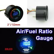 20 Leds Digital Auto Car Suv Air/fuel Ratio Monitor Racing Gauge Analog 2and039and039 52mm