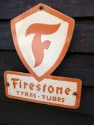 Firestone Enamel Sign Tyres And Tubes Firestone Porcelain Sign Tyre Tires Tire